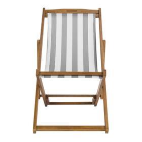 Loren Foldable Sling Chair - Natural / Grey / White