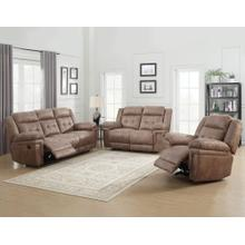 See Details - Anastasia Cocoa 3 Piece Motion Set(Sofa, Loveseat & Chair)