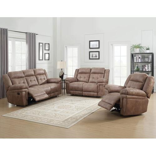 Gallery - Anastasia Cocoa 3 Piece Motion Set(Sofa, Loveseat & Chair)