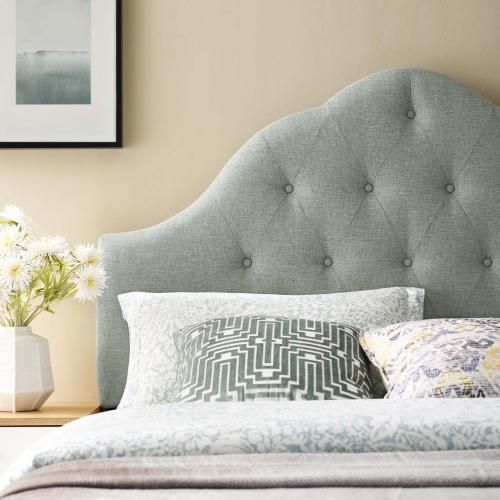 Sovereign Full Upholstered Fabric Headboard in Gray