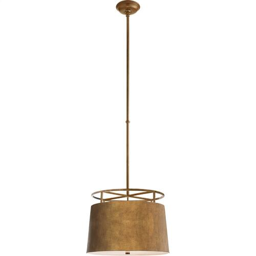 Visual Comfort CHC5095GI E. F. Chapman Bryden 2 Light 18 inch Gilded Iron Pendant Ceiling Light, E.F. Chapman, Medium, Round