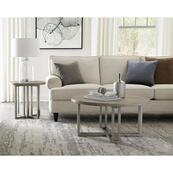 Adelyn - Round Coffee Table - Crema Gray Finish