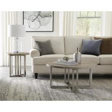 View Product - Adelyn - Round Coffee Table - Crema Gray Finish