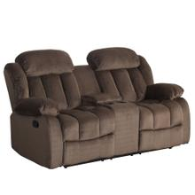 Product Image - Reclining Loveseat w/Console - Chocolate (Teddy Bear Collection)