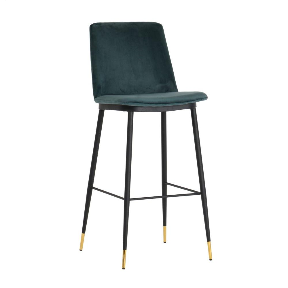 Evora Green Velvet Counter Stool (Set of 2)