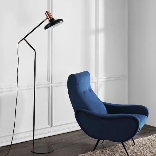 Amia Floor Lamp - Black / Antique Copper