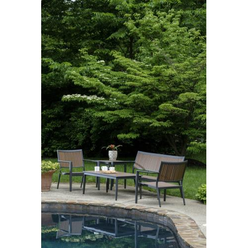 """Alfresco Home - Oden 19"""" Square Aluminum / Polywood Side Table"""