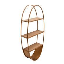 "View Product - Oval 36"" Wood/metal Wall Shelf, Bronze"