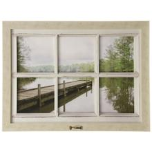 Lake Chicot  Made in USA  Window Motif Traditional Landscape Wall Art with Handle  Framed Print U