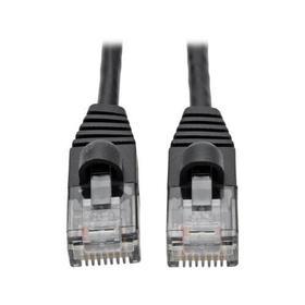 Cat6a 10G Snagless Molded Slim UTP Ethernet Cable (RJ45 M/M), Black, 1 ft.