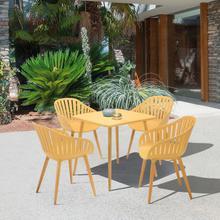 View Product - Nassau Outdoor 5 Piece Honey Eucalyptus Dining Set