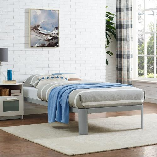 Corinne Twin Bed Frame in Gray