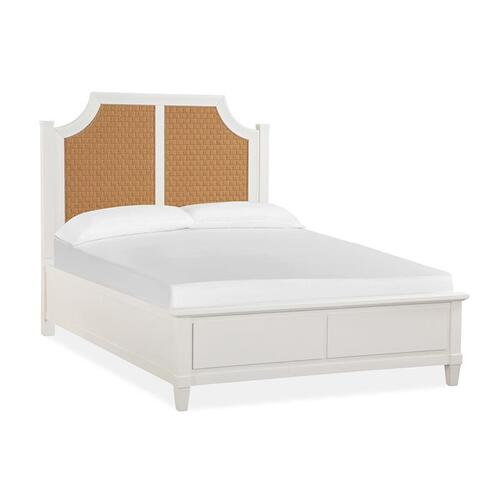 Magnussen Home - Complete Queen Arched Woven Bed