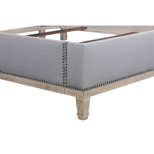 Anna Upholstered Nickel Weathered Oak Antique Pewter