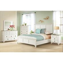 Myra - Full/queen Louver Headboard - Paperwhite Finish