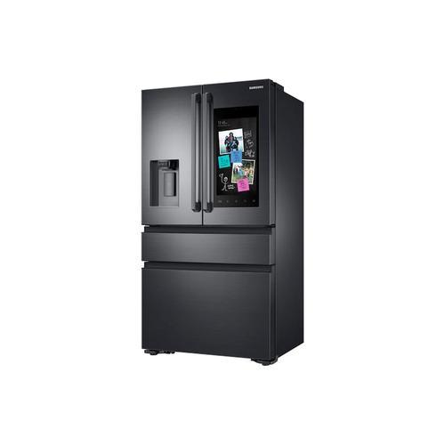 22 cu. ft. Family Hub™ Counter Depth 4-Door French Door Refrigerator in Black Stainless Steel