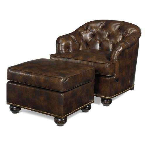 Leather Chair with Tufted Back
