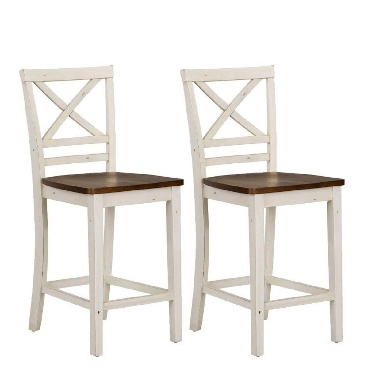 Amelia Two-Tone 2-Pack Counter Height Barstools