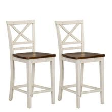 See Details - Amelia Two-Tone 2-Pack Counter Height Barstools