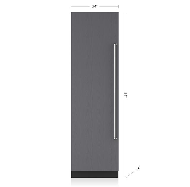 "Subzero24"" Designer Column Refrigerator/freezer - Panel Ready"