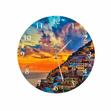 Amalfi Coast Round Square Acrylic Wall Clock