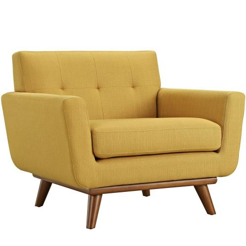 Engage 2 Piece Armchair and Ottoman in Citrus