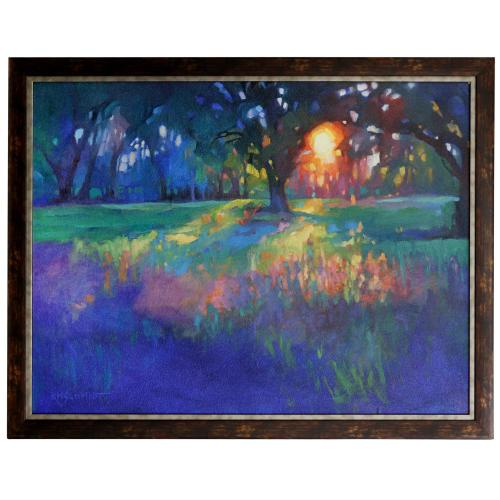 Style Craft - LINGERING LIGHT  44in w X 34in ht  Made in USA  Textured Framed Print