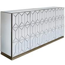 Product Image - WATERFORD SIDEBOARD  Beveled Mirror with Champagne Finish  4 Door