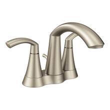 Glyde Brushed nickel two-handle high arc bathroom faucet