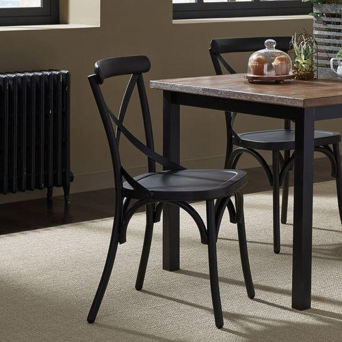 Liberty Furniture Industries - X Back Side Chair - Black