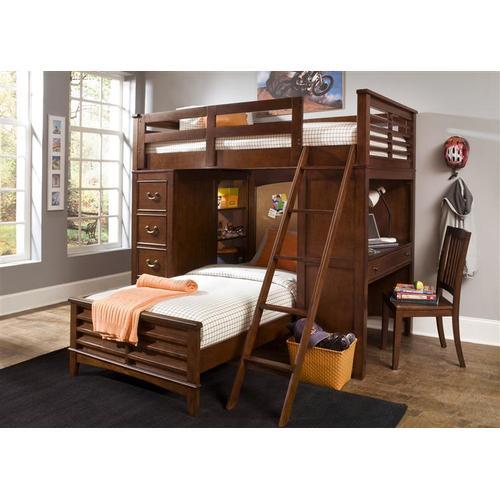 Twin Loft Bed W Cork Bed Set
