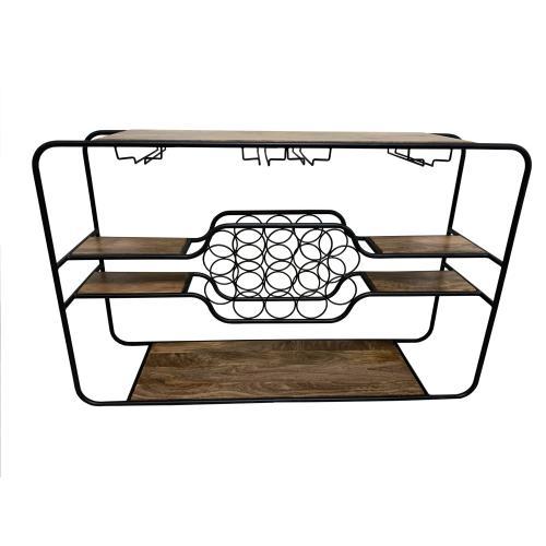 Napa Wine Rack Console Table