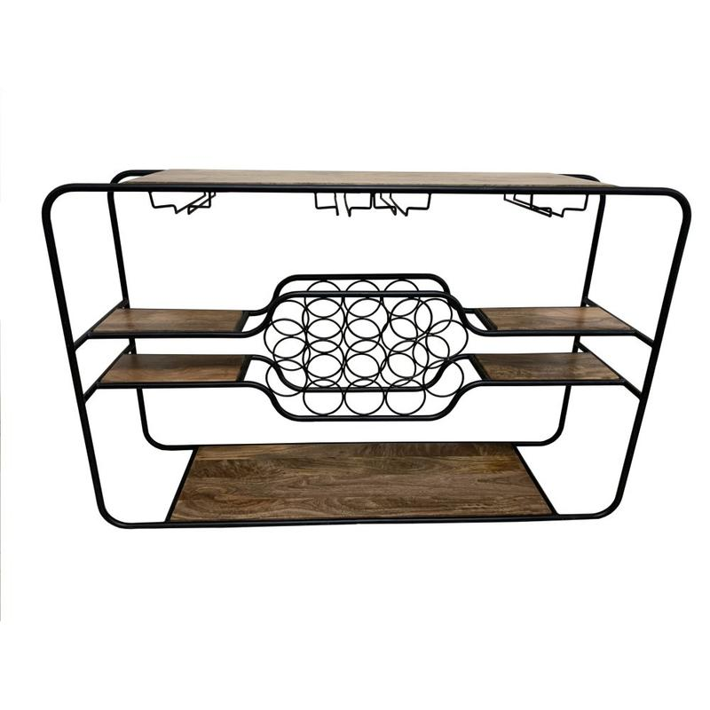 Napa Wine Rack Console Table
