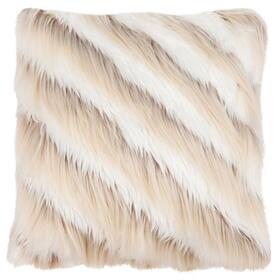 Brella Faux Fur Pillow - Beige