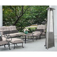 Hanover 7.5-Ft. 42,000 BTU Triangle Propane Patio Heater in Stainless Steel, HAN104SS