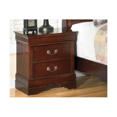 B376 Two Drawer Nightstand (Alisdair)