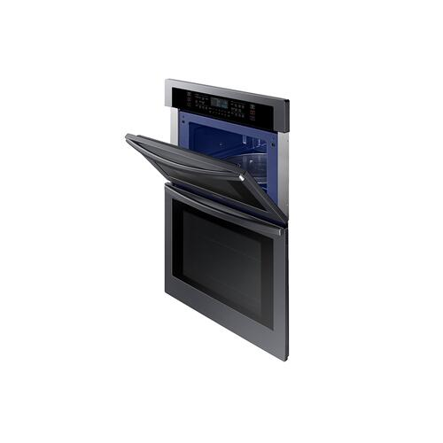 "30"" Smart Microwave Combination Wall Oven in Black Stainless Steel"