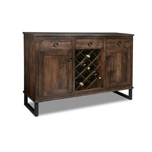 - Cumberland Sideboard w/2 Wood Doors & 3/Dwrs & 2/Wood Adjust. & Wine Rack