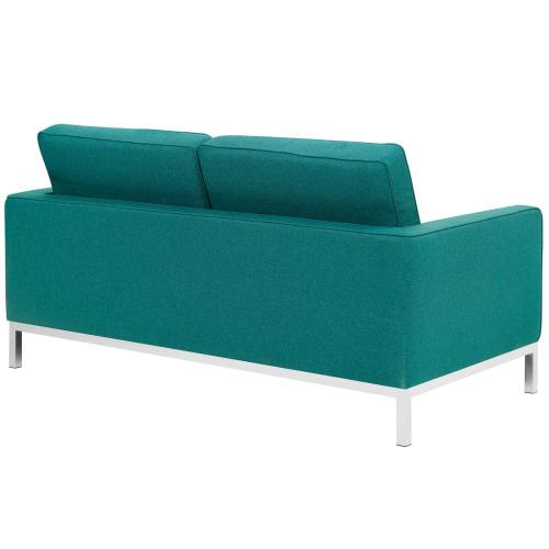 Modway - Loft Upholstered Fabric Loveseat in Teal