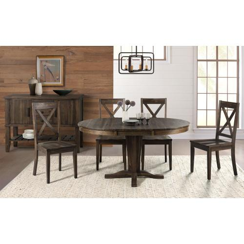 5 PIECE SET (EXTENSION TABLE AND 4 SIDE CHAIRS)