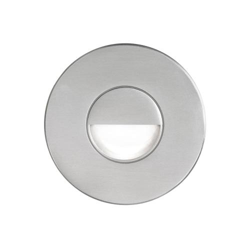 Brushed Alum Round In/outdoor 3w LED Wal