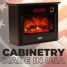 See Details - Original SUNHEAT USA Infrared Fireplace - Black