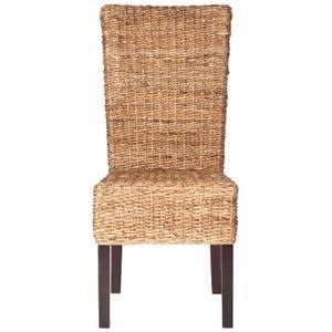"Kiska 18""h Rattan Side Chair - Dark Brown"