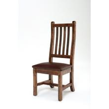 See Details - Heritage Side Chair With Leather Seat