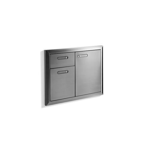 """Lynx - 30"""" Storage door & double drawer combination"""