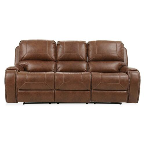 Keily Manual Reclining Sofa w/Dropdown Table, Brown