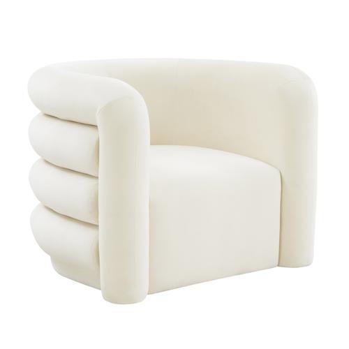 Curves Cream Velvet Lounge Chair
