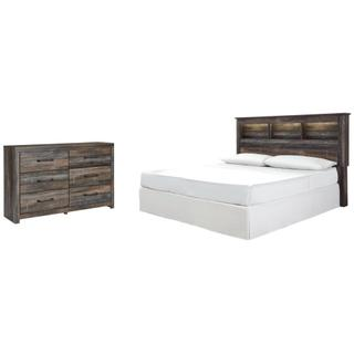 See Details - King/california King Bookcase Headboard With Dresser
