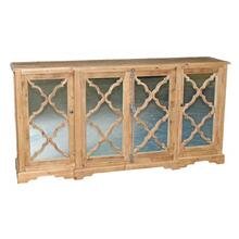 Reclaimed Pine Mirror 4-Door Buffet