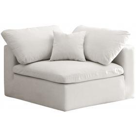 """Cozy Velvet Cloud Modular Down Filled Overstuffed Corner Chair - 40"""" W x 40"""" D x 32"""" H"""